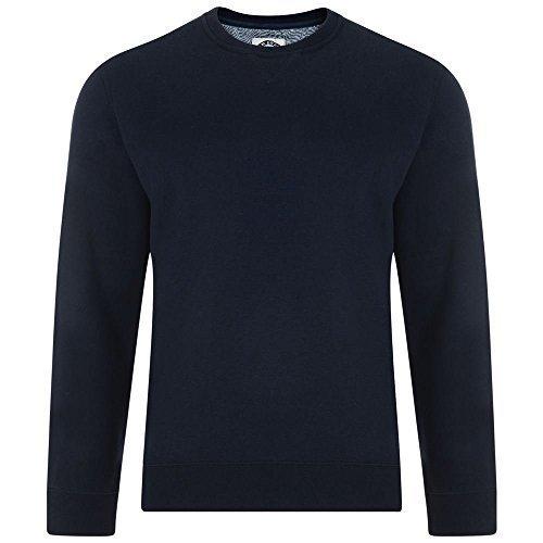Big And Tall Sweatshirt (KAM Baumwollreich Fleece Rundhalsausschnitt Pullover Top größen 2XL bis 8XL, 2 farben Optionen - Marine, 2XL CHEST (52 - 54 INCHES))