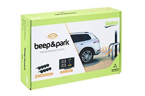 Valeo Beep&Park Einparkhilfe mit 8 Sensoren und LCD-Display zum Front-und Heckeinbau, Artikelnr. 632202, Schwarz