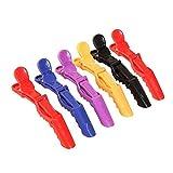 Namgiy 6 Pinzas para el Pelo Cierre de Pinza para Peluquería Profesional, Salón de Pelo, Mariposas, 11 x 1,5 x 3,8 cm