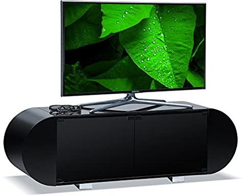 Centurion Supports ANDORA Soft Oval Gloss Black Remote Friendly Beam-Thru