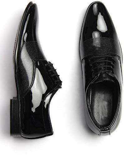 Dunkaston Men Casual Formal Partywear Shoes (7, Black)