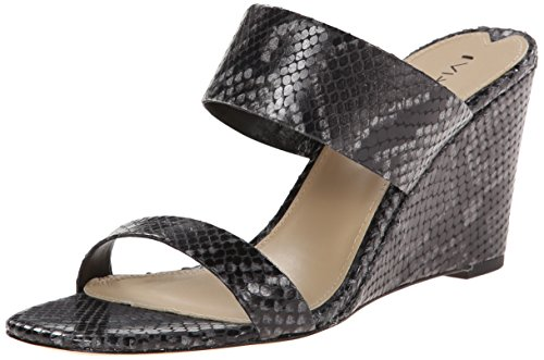Via Spiga Wallia 2 Cuir Sandales Compensés Black Snake