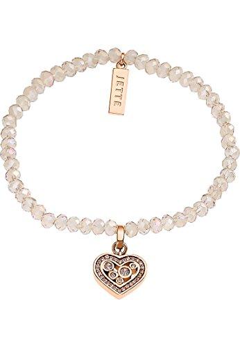 JETTE Magic Passion Damen-Armband Metall 27 Kristall 54 Glasstein One Size, rosé