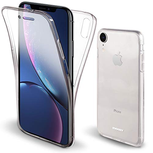Moozy Funda 360 Grados iPhone XR Transparente Silicona