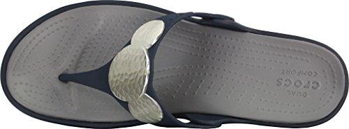 Crocs - Sanrah Agrémentée Wedge flip femmes Navy