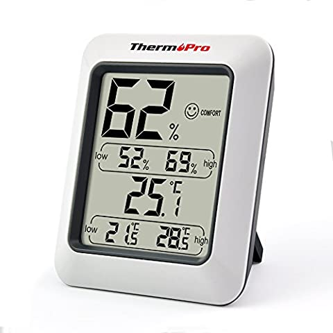 ThermoPro TP50 Large LCD Digital Thermo-hygrometer, Monitor Temperature and Humidity Meter for Home Office Comfort, (Oregon Scientific Termometro)