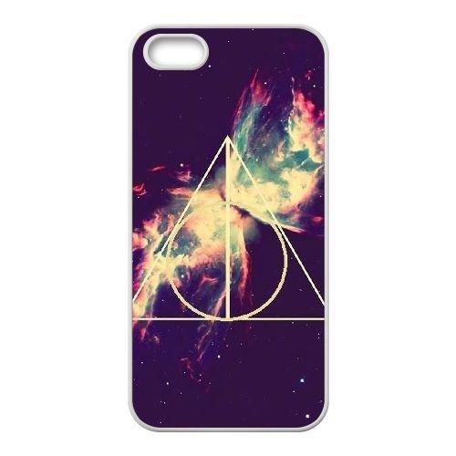 Deathly Hallows coque iPhone 4 4S Housse Blanc téléphone portable couverture de cas coque EBDXJKNBO11233