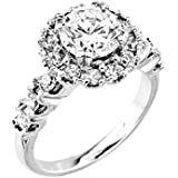 Little Treasures - 14 ct White Gold CZ Solitaire Engagement Ring