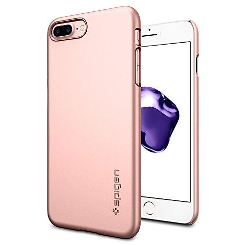 Coque iPhone 7 Plus, Spigen® [Thin Fit] Exact-Fit [Crystal Clear] Premium transparent Hard Housse Etui Coque Pour iPhone 7 Plus (2016) - (043CS20935) TF Or Rose