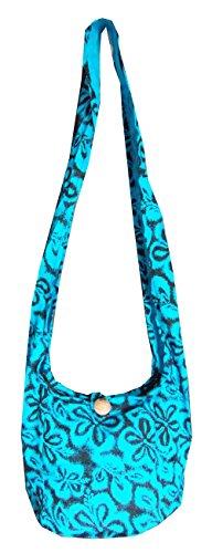 Blue Floral Sling Purse/Bag