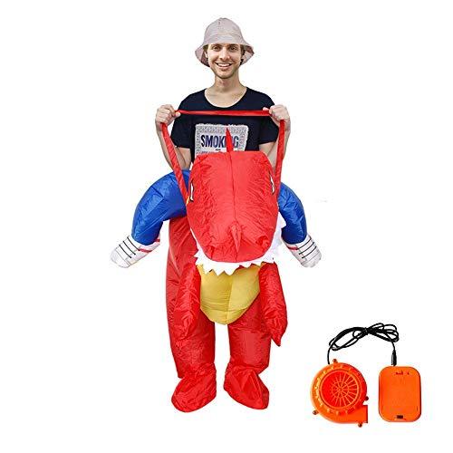 Costumi gonfiabili dinosauro per halloween festa di natale cosplay divertente visualizza puntelli per adulti/bambini