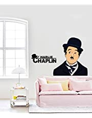 Rawpockets 'Charlie Chaplin ' Wall Sticker (PVC Vinyl, 80 cm x 50cm)