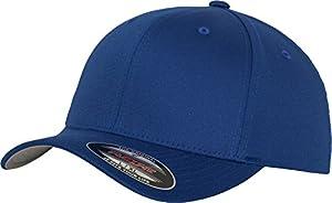 Flexfit 6277 Wooly Unisex Combed Cap, royal, S/M