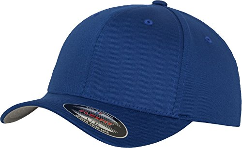 Flexfit 6277 Wooly Unisex Combed Cap, royal, Youth