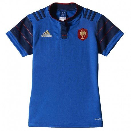 FFR H JSY W MAR - Maillot Rugby FFR Femme Adidas - 48 - Bleu