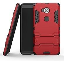 """MOONCASE Huawei G8 Funda, [Heavy Duty] Híbrida Rugged Armor Case Choque Absorción Protección Dual Layer Bumper Carcasa con pata de Cabra para Huawei G7 Plus / G8 / GX8 (5.5"""") Rojo"""