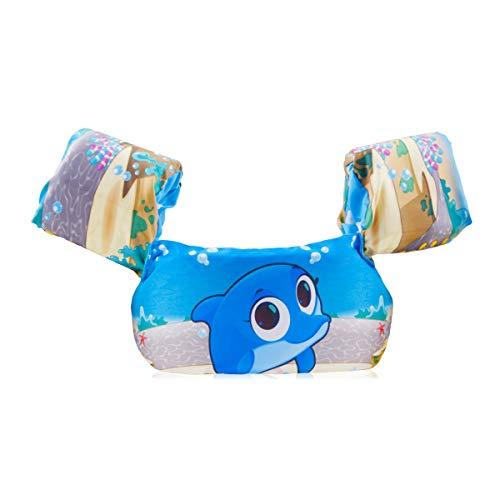 FOCHEA Schwimmflügel Baby, Baby Schwimmring Schwimmhilfe für Kinder und Kleinkinder von 2-6 Jahre, 14-25kg (Blau)