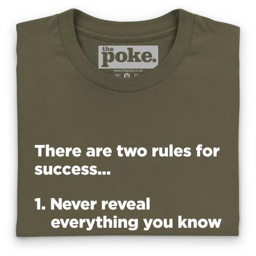 Rules of Success T-Shirt, Damen Olivgrn