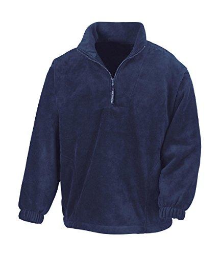 Result - 1/4 Zip Fleece Pullover XL,Navy (Fleece Zip Navy 1/4)