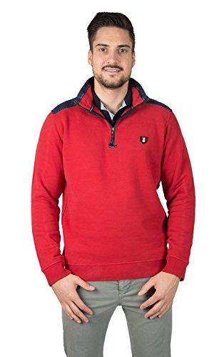 Paul Grant Sweat-Rugby-Shirt aus Baumwolle-gepeacht Troyer Peach