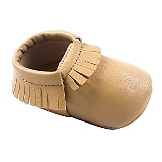 AUBIG fiile Baby Boys Shoes Soft/Pure Color Fringe/First Steps - Multi-Coloured - Inside Length 11-13 cm Size: Waist 20(12 cm) for 6-12 Months