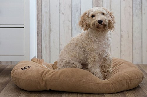 Gor-Pets-Cairo-Soft-Washable-Oval-Cushion-for-Dog-Cat-Bed-21-inch-Beige