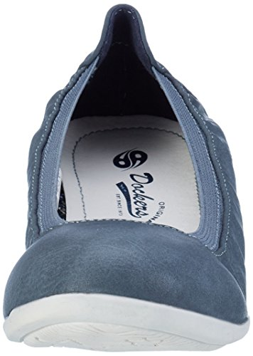 Dockers by Gerli Damen 34fu201-620 Geschlossene Ballerinas Blau (Blau 600)