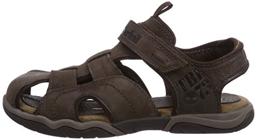 Timberland Active Casual Sandal_Oak Bluffs Leather Fisher, Unisex-Kinder Geschlossene Sandalen, Braun (Dark Brown), 28 EU -