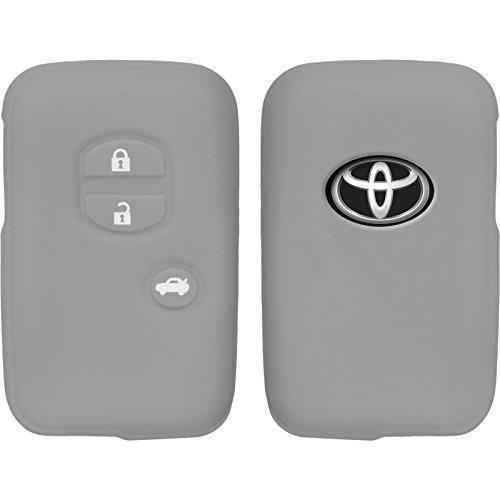 phonenatic-funda-de-silicona-para-mando-de-3-botones-de-toyota-highlander-en-gris-llave-plegable-de-