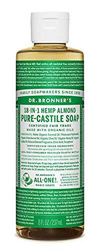 Dr. Bronners Savon de Castille parfumé à l'amande 237 ml