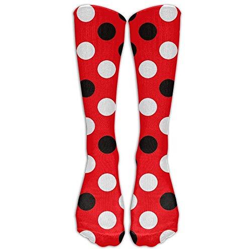 bvncfghjdfgj Red Black Polka Dot Comfort Cool Vent Crew Socks,One Size -