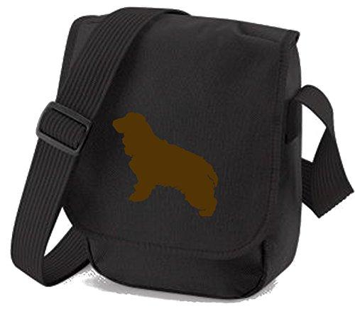 Bag Pixie , Damen Schultertasche Brown Dog Black Bag