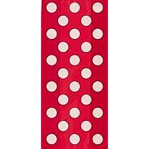 Unique Party - Paquete de 20 bolsas de regalo de celofán a lunares, color rojo (62062)