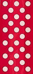 Idea Regalo - Unique Party 62062 - Sacchetti Regalo di Cellophane per Festa di Compleanno - Tema Rossi a Pois - Confezione da 20