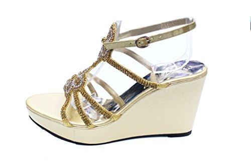 Wear & Walk UK , Sandales pour femme Doré