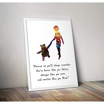Winnie the Pooh – inspiriert – Zitat – Aquarell – Poster – Print – Geschenke – Alternative TV/Movie Poster in verschiedenen Größen (Rahmen nicht im Lieferumfang enthalten)