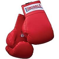 Londsdale Boxen Sandsackzubehör Oversized Boxing Gloves - Guantes de boxeo para combate, color rojo, talla standard