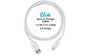 GeekCases Elite USB Type-C EL-TC-1M-WHITE USB Type-C 3.0A Fast Charge Cable - 4 Feet (1.2 Meters) - (White)