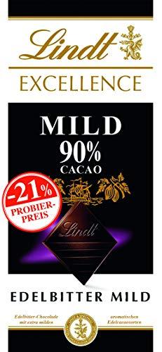 Excellence Mild 90%, Promotion, Edelbitterschokolade, 5er Pack (5 x 100 g) -