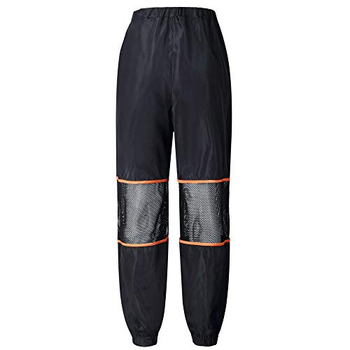 SIOPEW Hosen Nacht Reflektierende Hose Hip Hop Womens Hohe Taille Hose Jogger Lose Hose Overalls Röcke Shorts Strumpfhosen Sweatpants (schwarz, S)