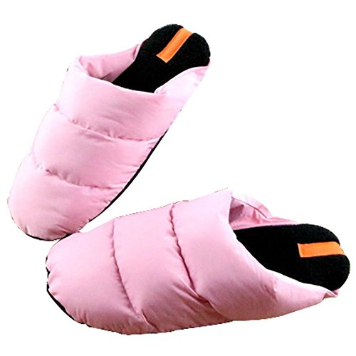 WANGXN Pantoufles Chaussons Chintillons en Coton Chaussures Home Hommes pink