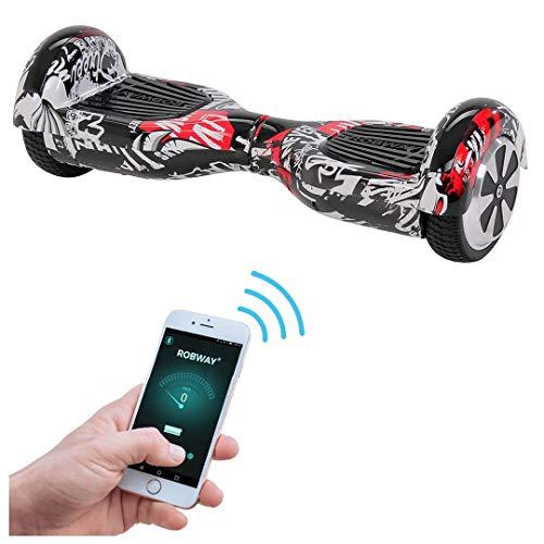 Robway W1 Hoverboard - UL2272 Akku - Self Balance - 11 Farben - Bluetooth - 2 x 350 Watt Motoren - App - 6,5 Zoll Reifen (UL2272 Urban-Ink)