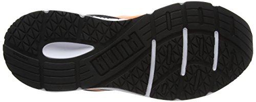 Puma Unisex-Kinder Axis V4 Mesh V Jr Low-Top Schwarz (puma black-orange clown fish 07)