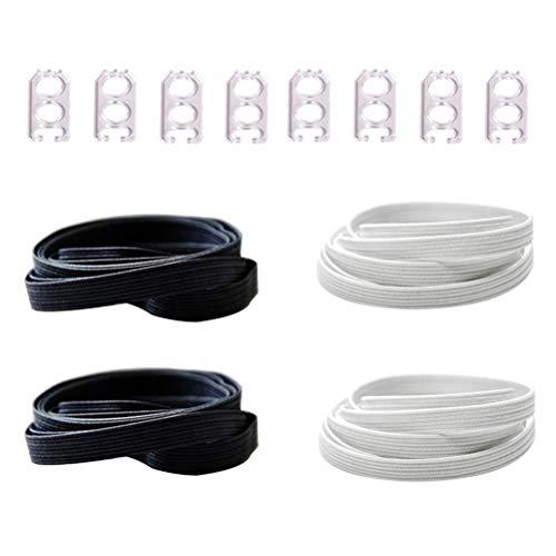 DD Flache Elastische Schnürsenkel, Einheitsgröße Unisex Keine Krawatte Schnürsenkel für Kinder Erwachsene - Länge Frauen Flache Stiefel