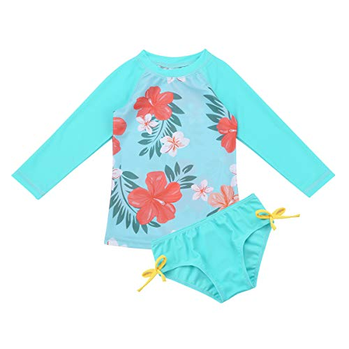 Iiniim Traje de Baño de Protección Solar UPF 50+ UV Niña Bañador Flores Camiseta Manga Larga Ropa...