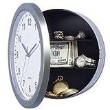 SECRET WALL CLOCK SAFE. DISCREET. HIDE VALUABLES. HINGED DESIGN. WORKING CLOCK.