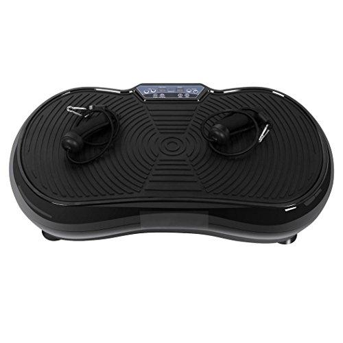 Swteeys Profi Vibrationsplatte Fitness Vibrationsgerät Ganzkörper Trainingsgerät Vibro Shaper mit Power Dehnbänder + Fernbedienung + 3D-Vibration - 150 kg
