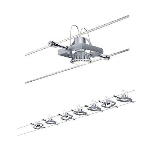 941.52 Wire System Set MacII max. 7x10W GU5,3 Chrom matt 230/12V 80VA 94152 Seilleuchte Seillampe De