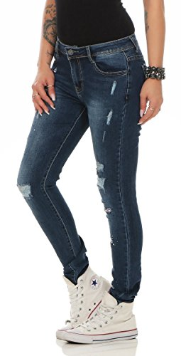 Fashion4Young - Jeans - Femme turquoise turquoise 38 11390-blau