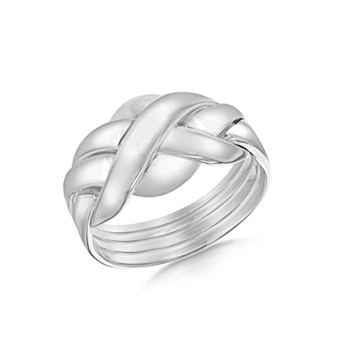 Tuscany Silver Ring Sterling Silber 4 Band Puzzle Größe N